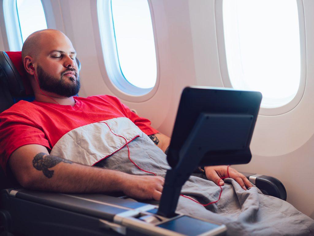 premium economy seating on an international flight