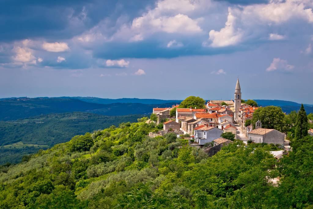 hilltop church in Istria.