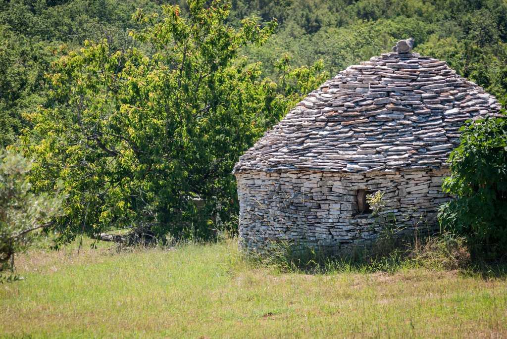 kažun stone house in Istria.