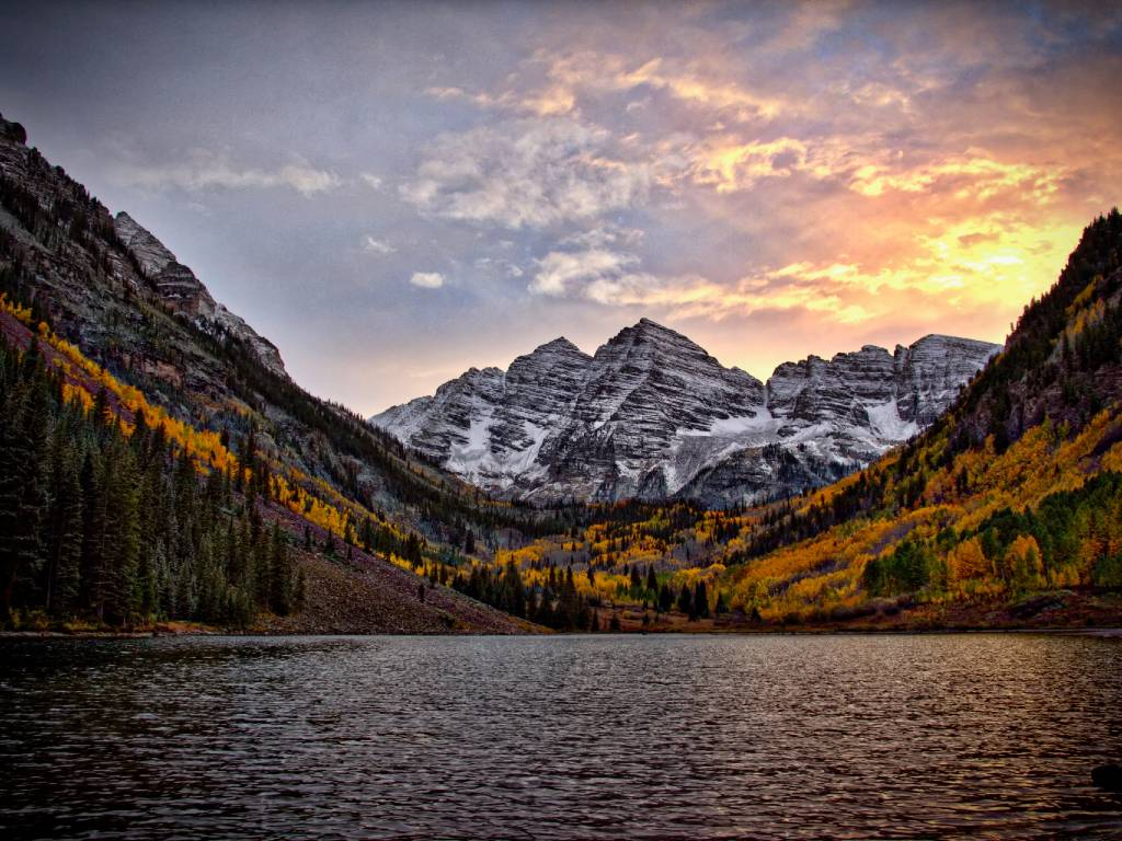 mountain and lake in Colorado