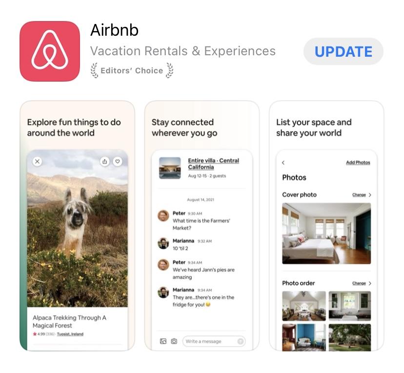 airbnb app.