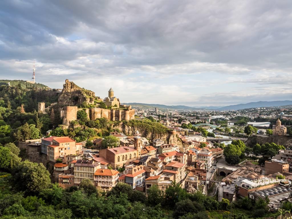 view over Tbilisi Georgia.