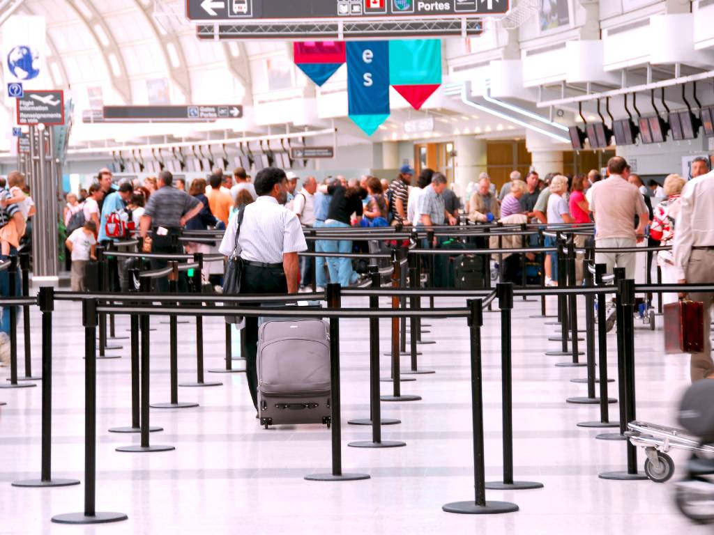 line at airport