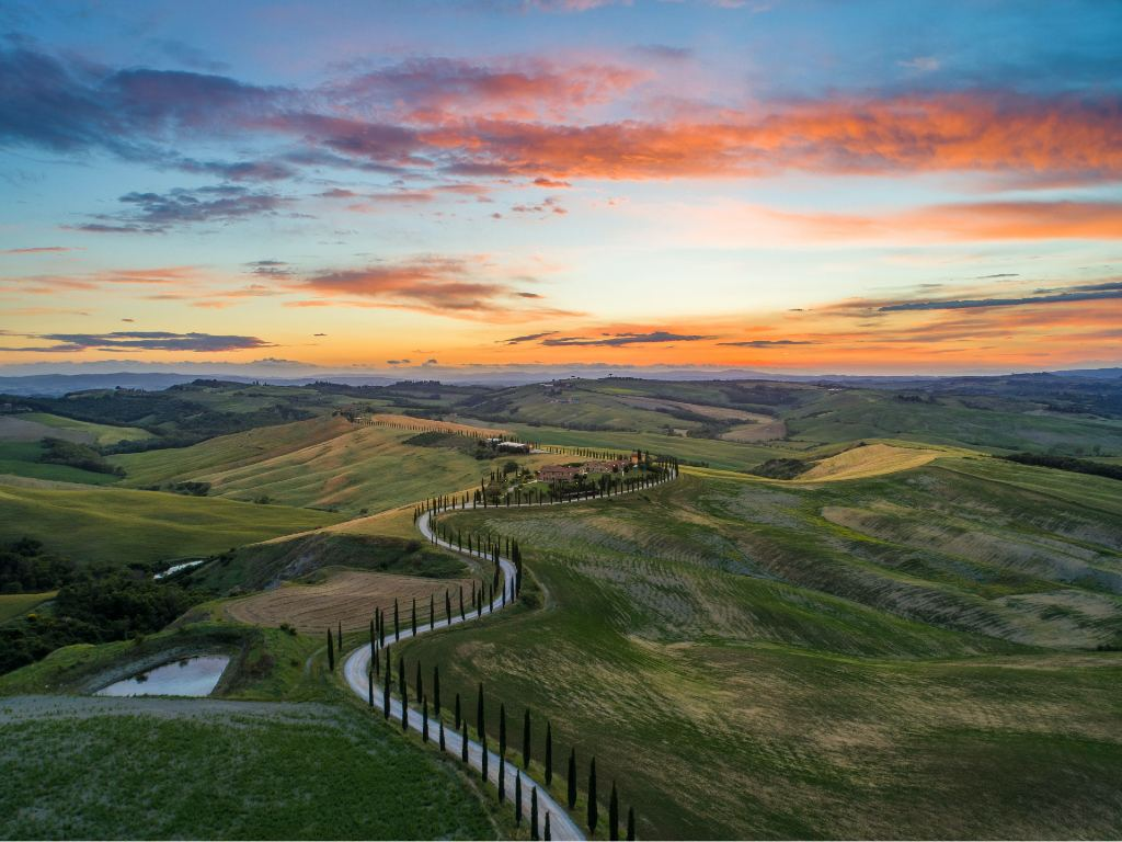 view over Tuscany.