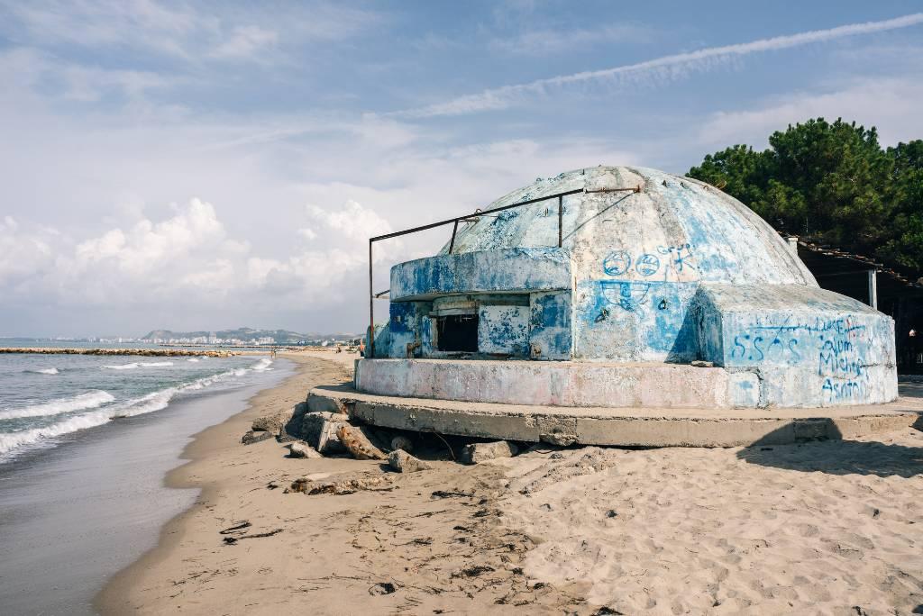 empty bunker in Albania