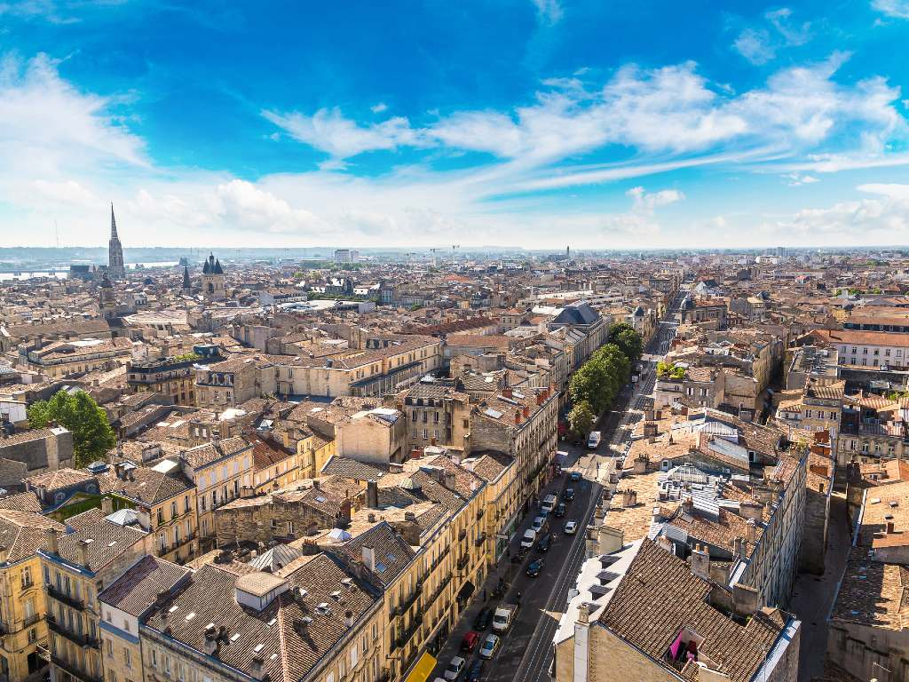 Bordeaux France from above.
