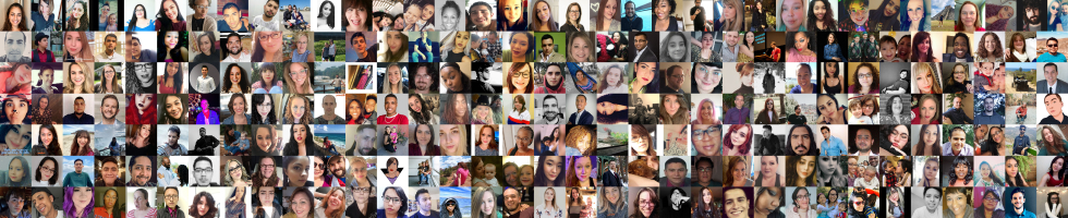Many people in a collage