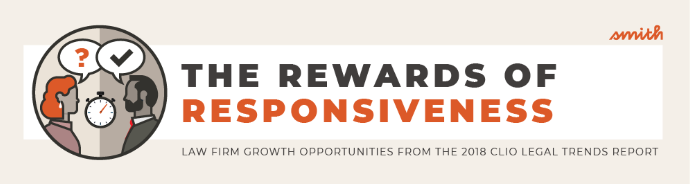 INFOGRAPHIC: The Rewards of Responsiveness: Law Firm Growth Opportunities from the 2018 Clio Legal Trends Report