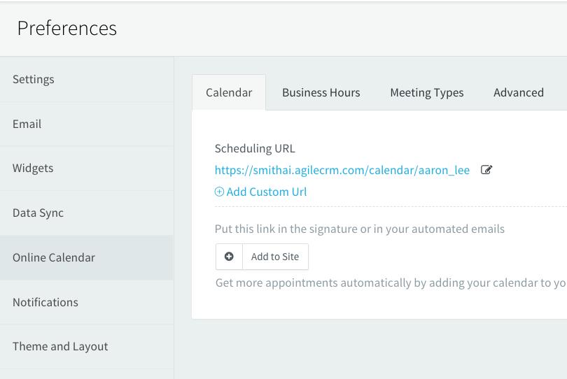 agile crm calendar