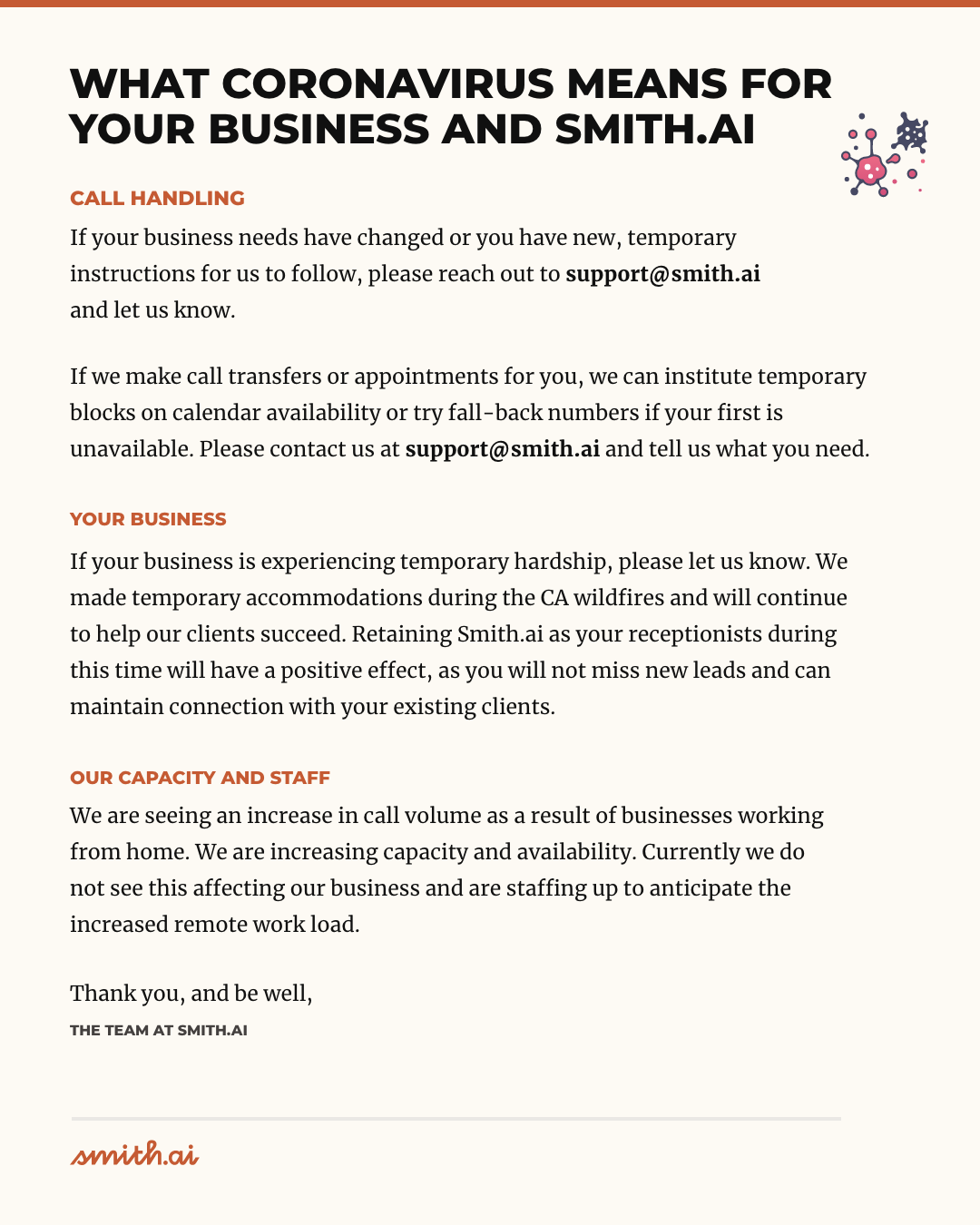 Smith.ai Will Help Your Business Through COVID-19