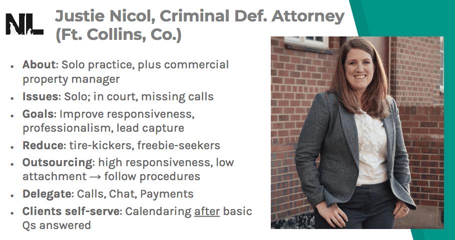 Justie Nicol example