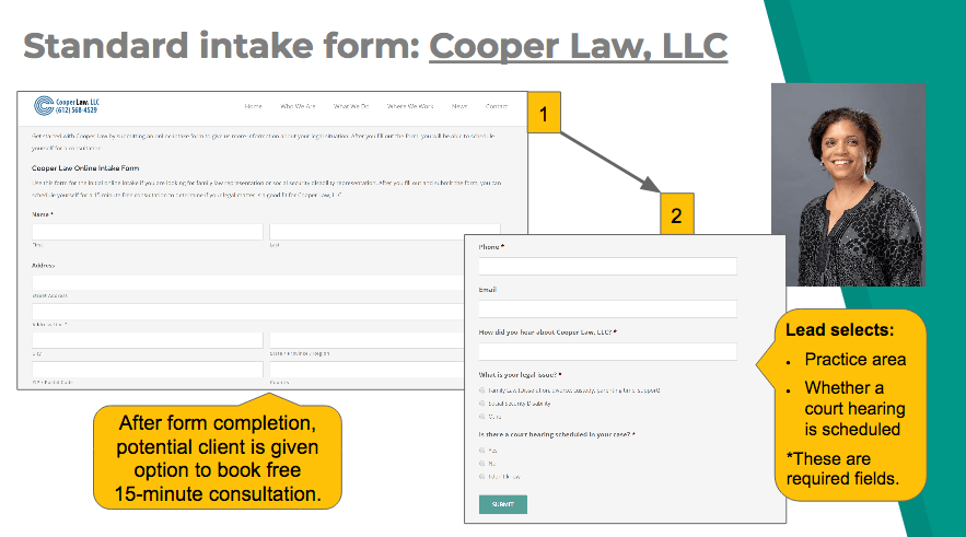 Standard intake form example