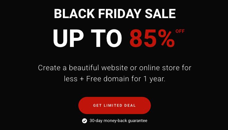 Zyro Black Friday deal