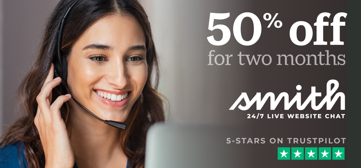 Get 50% Off Smith.ai Live Website Chat — Ends Jan. 1, 2021