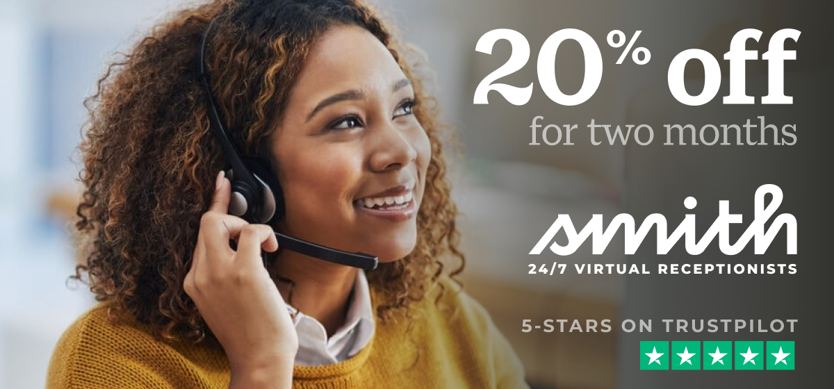 Get 20% Off Smith.ai Virtual Receptionists — Ends Jan. 1, 2021