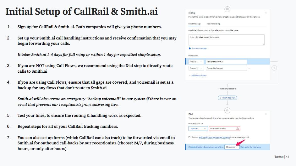 Setting up CallRail and Smith.ai