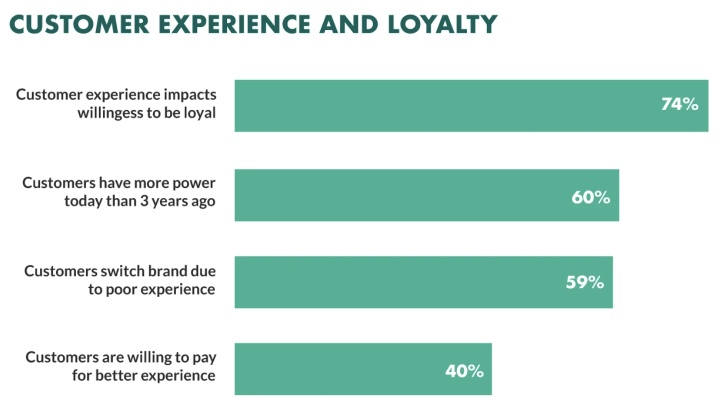 Customer experience and customer loyalty data point