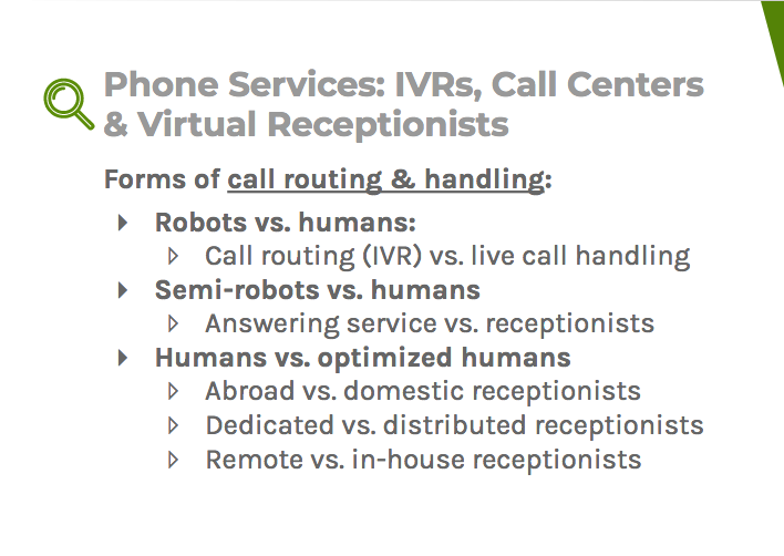 Call routing and handling include robots, semi-robots, humans, and optimized humans