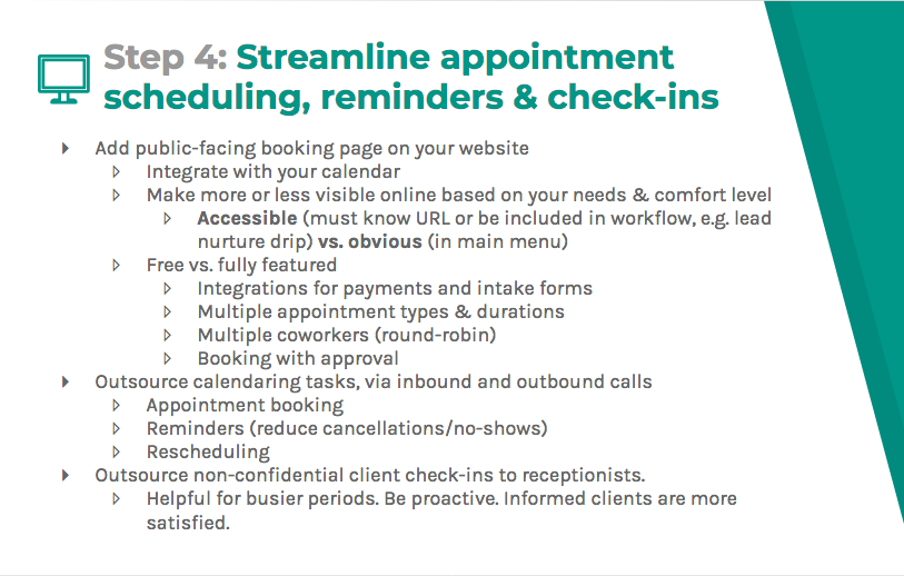 Streamline appointment scheduling, reminders, and check-ins