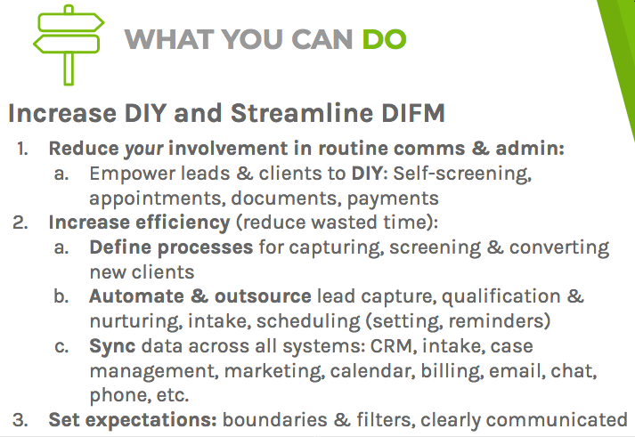 Increasing DIY and streamlining DIFM can reduce your involvement, boost efficiency, and set expectations