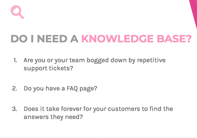 Do you need a knowledge base? Depends on whether or not you have a FAQ page and the time to answer customers