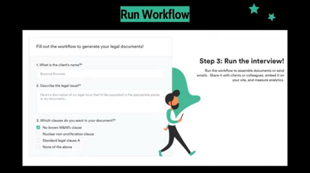 Step three: run interview