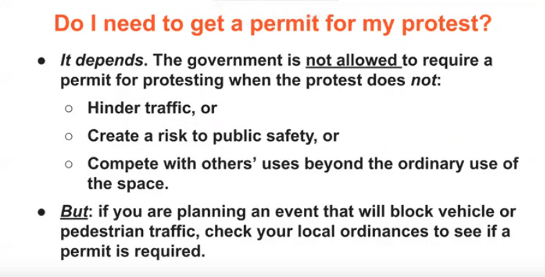 Do I need to get a permit for a protest? Well, it depends.