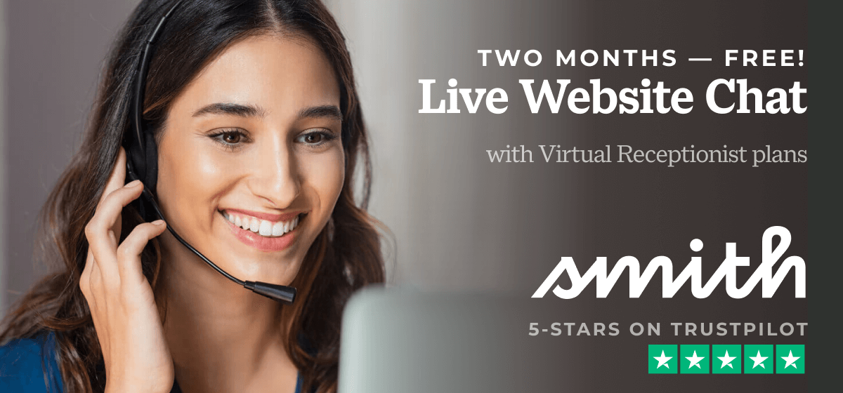 Get 2 Months of Live Chat FREE, With Any Receptionist Plan — Now Through Jan. 31, 2021