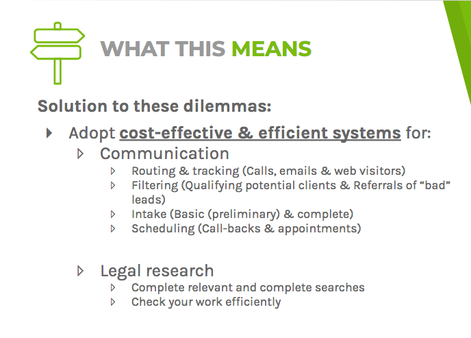 Solutions to dilemmas: adopt cost-effective and efficient systems