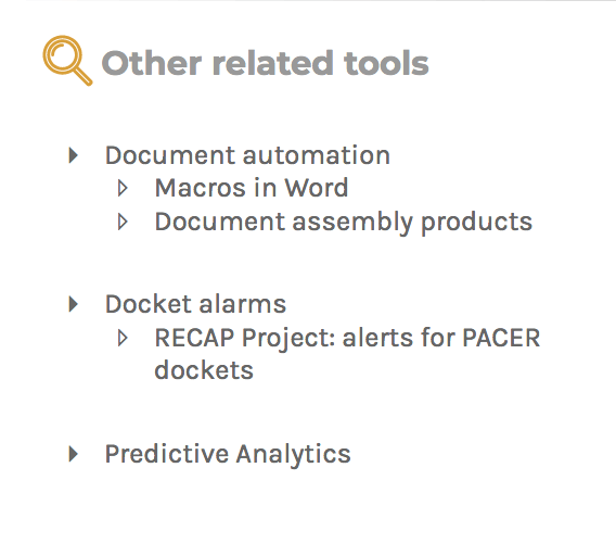 Other related tools