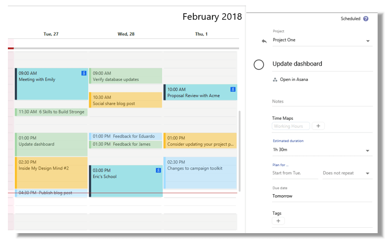 Skedpal scheduling page