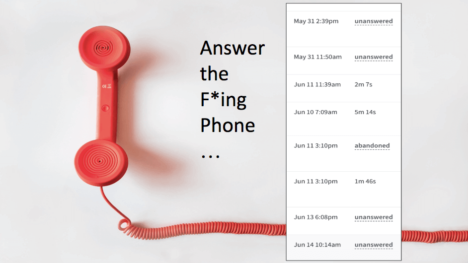 Phone call answering importance