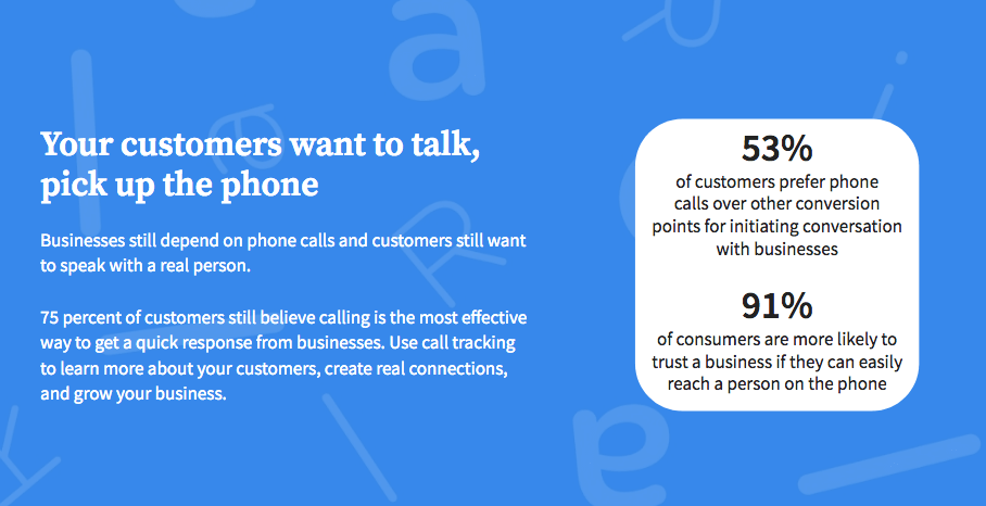 Customers want to talk, but you have to pick up the phone