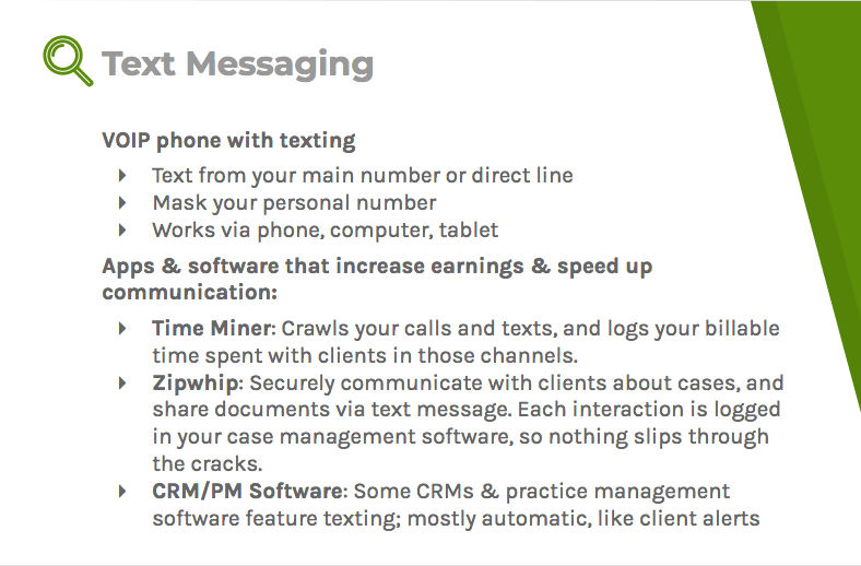 Text messaging through a VoIP phone, an app, or a software can improve responsiveness