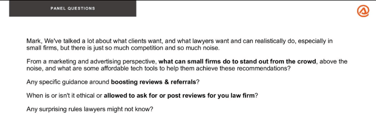 What can small law firms do to stand out from the crowd? How can they boost reviews and referrals?