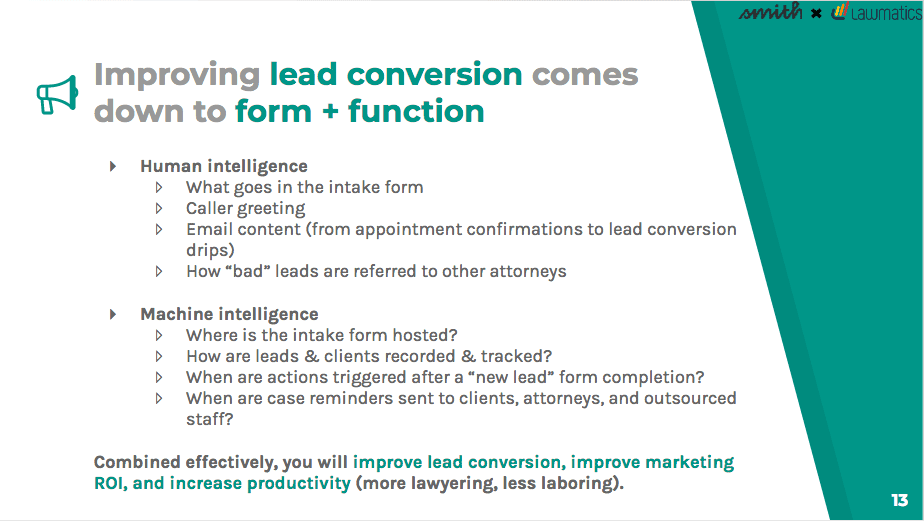 You can improve lead conversions by using both human and machine intelligence