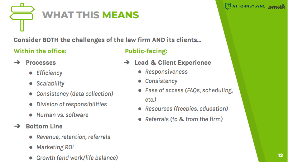 What these dilemmas show is there are challenges for both law firms and their clients