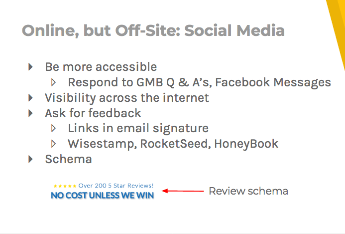 Social media tips: be accessible and visible, ask for feedback, and use a schema