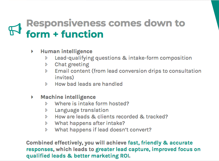 Responsiveness means using both human and machine intelligence