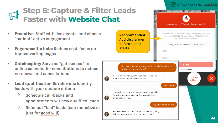 Capture and filter leads faster with web chat