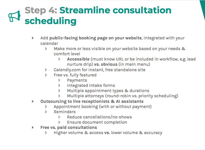 Streamline consultation scheduling