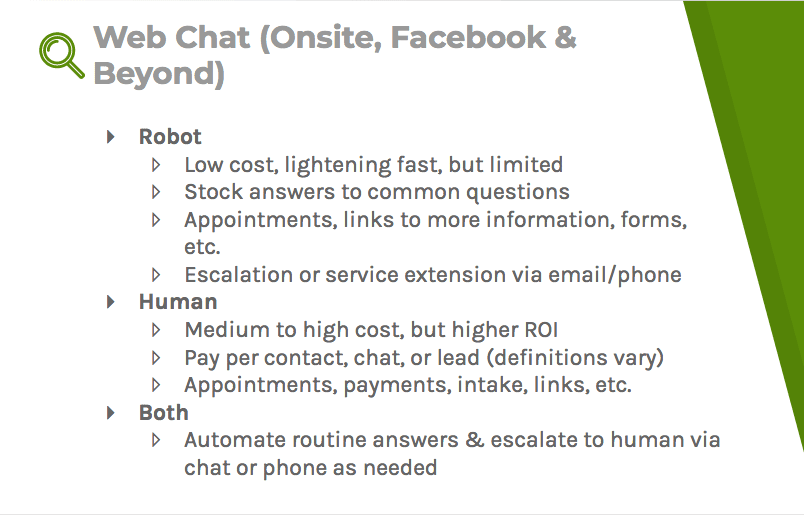 Web chat: the benefits of a robot-controlled chat, human-controlled chat, or a robot and human-controlled chat