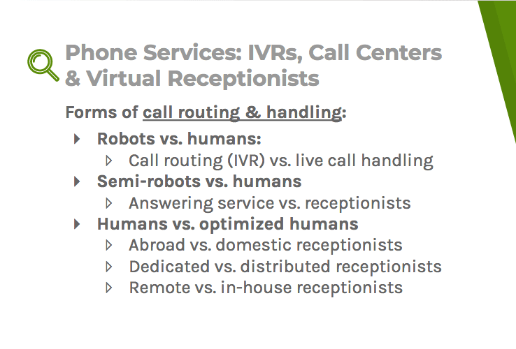 Call handling and routing systems include robots, semi-robots, humans, and optomized humans