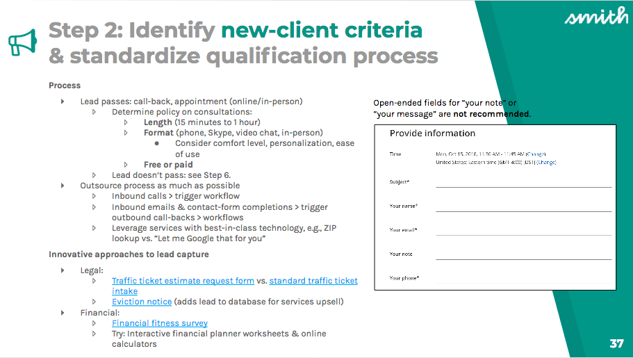 Example of a qualification process