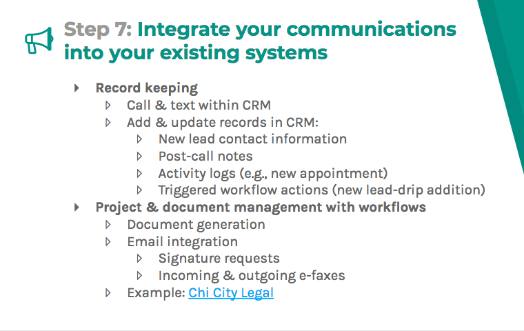 Integrate your communications into your existing systems with record keeping