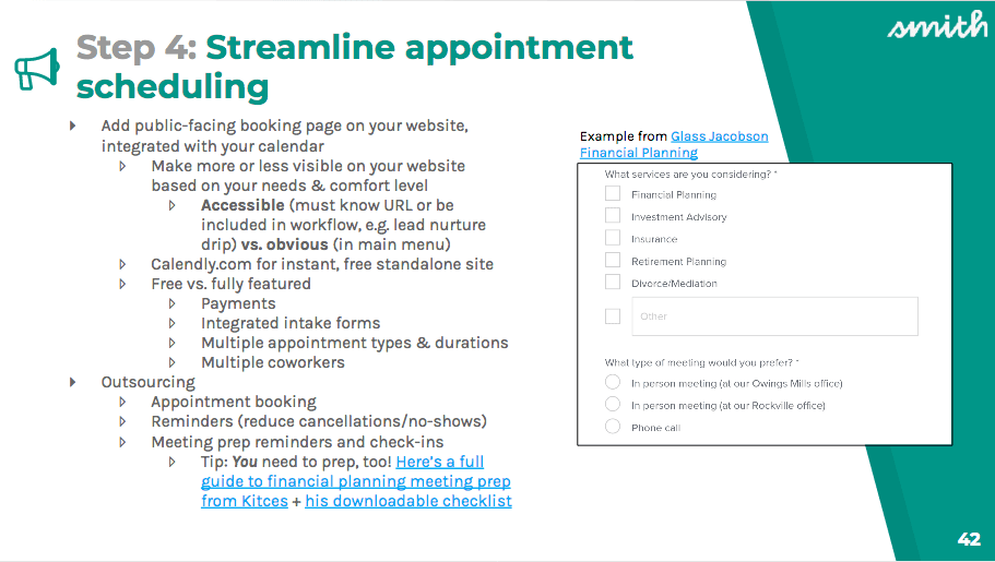Streamline appointment scheduling