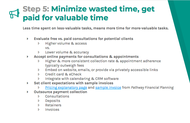 Minimize wasted time and get paid for more-valuable tasks