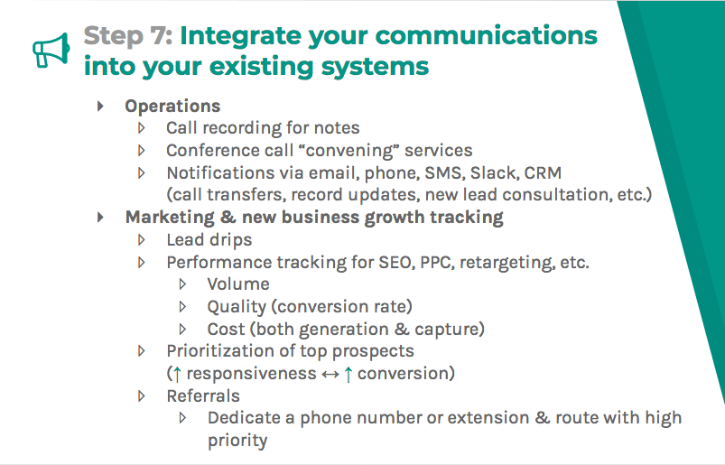 Integrate into your existing systems with operations as well as marketing and new business growth tracking