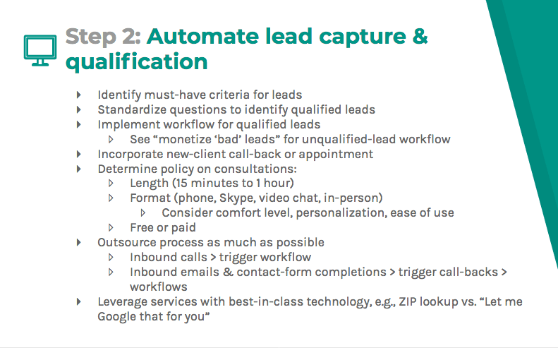 Automate lead capture and qualification