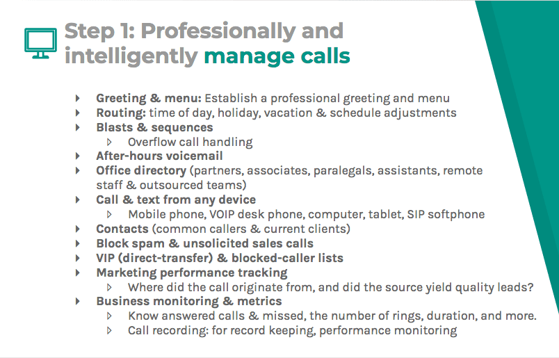 Professionally and intelligently manage calls